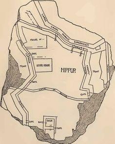 Plano de la ciudad de Nippur.