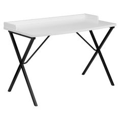 Belnick Computer Desk with Writing Desk - White : Target