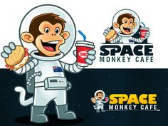 "Design the ""Space Monkey Cafe"" Logo by Hazel Anne"