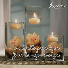 En el #centrodemesa del #comedor un gran arreglo #decorativo con velas blancas y #flores no debe faltar.  #Trends #bogotá #SarriaHome #Lifestyle