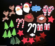 30 Holiday Christmas Foam Stickers - Self Adhesive, Kid Crafts, Scrapbooking, Holiday Greeting Cards, Santa Claus. Reindeer, & More #foothillcrafters #etsyshop #christmas_stickers #kidscrafts #foamstickers #diycrafts