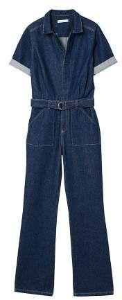 d1e0d76d56d MANGO Belt denim jumpsuit