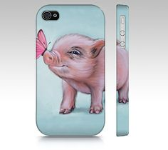 Mini pig phone case for iPhone 4/ 4S 5/ 5S Samsung by MimoCadeaux, $34.00