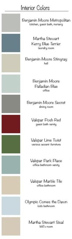 Model home paint colors