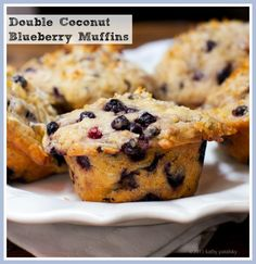 Double Coconut Blueberry Muffins. My Bed & Breakfast-Style Recipe. #vegan