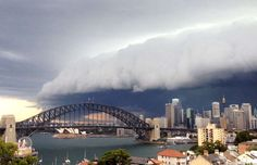 I just had to share this amazing picture of a storm here in Sydney, Australia today 6.11.15. It looks like a huge wave but its really the clouds just before it poured down rain.... Amazing....