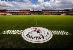 Logo bij het betreden van het veld Sparta Rotterdam, Baseball Field, Logo, Logos, Environmental Print