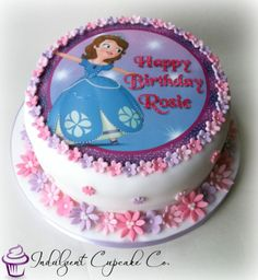 Personalised Sofia The First cake....