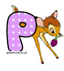 Planet Cute - Alphabet - Bambi - Image Bambi, Disney Letters, Cute Alphabet, Letters And Numbers, Scooby Doo, Pikachu, Fictional Characters, Image, Friends