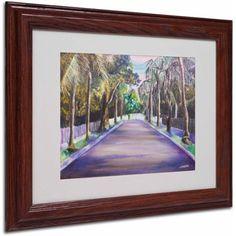 Trademark Fine Art Key West Street Canvas Art by Judy Harris, Wood Frame, Size: 11 x 14, Multicolor