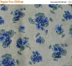 50% OFF SALE Periwinkle Paradise by April Cornell for April and Co, By the Yard, 44/45 inches Wide