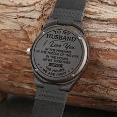 Engraved Wooden Watch - Great Gift For Your Husband - Forever Love Gifts Bday Gifts For Him, Surprise Gifts For Him, Thoughtful Gifts For Him, Romantic Gifts For Him, Gifts For Fiance, Christmas Gifts For Husband, Great Gifts For Men, Love Gifts, Romantic Sayings