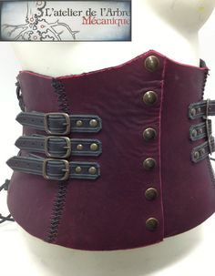 Strapped tall belt corset
