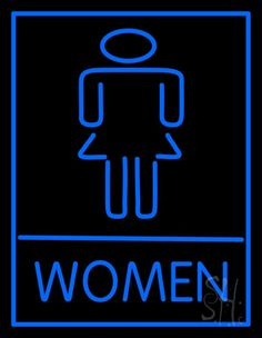 Women Restroom Bar Neon Sign 31 Tall x 24 Wide x 3 Deep, is 100% Handcrafted with Real Glass Tube Neon Sign. !!! Made in USA !!!  Colors on the sign are Blue. Women Restroom Bar Neon Sign is high impact, eye catching, real glass tube neon sign. This characteristic glow can attract customers like nothing else, virtually burning your identity into the minds of potential and future customers. Women Restroom Bar Neon Sign can be left on 24 hours a day, seven days a week, 365 days a year...