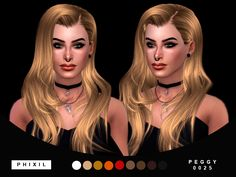 "phixil: "" Female 9 Swatches Found In Hair Credits: Anto and Peggyzone Any problem let me know. DOWNLOAD (included only .package) """