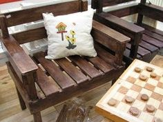 Banco de jardim com palete - Pallet Chair DIY