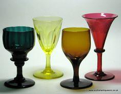 Wine Glasses c1820 Vintage Tableware, Antique Glassware, Regency Color, Wine Glass, Glass Art, Luxury Glasses, Z Arts, Ceramic Pottery, Cheers