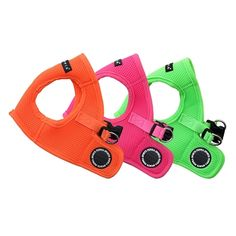 The popular Puppia Soft Vest Harness is now available in three bright neon colors - orange, pink and green! Not only is this dog harness brilliant in color, it's genius design, patented by Puppia, is a best-seller for it's quality, comfort, style and ease