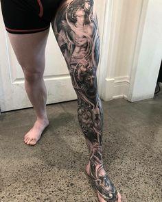 Skull tattoos, leg tattoos, sleeve tattoos, tattoos for guys Full Leg Tattoos, Leg Tattoo Men, Hand Tattoos, Best Sleeve Tattoos, Tattoo Sleeve Designs, Skull Tattoos, Tattoo Designs Men, Body Art Tattoos, Tatoos