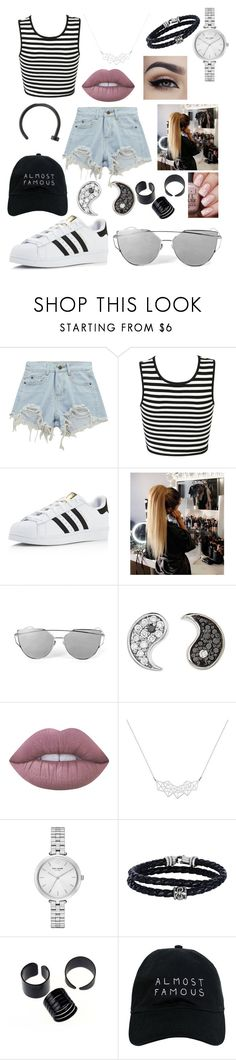 """""""Almost Famous"""" by kaitlyncliffxrd ❤ liked on Polyvore featuring Chicnova Fashion, adidas, Sydney Evan, Lime Crime, A Weathered Penny, Kate Spade, Phillip Gavriel and Nasaseasons"""