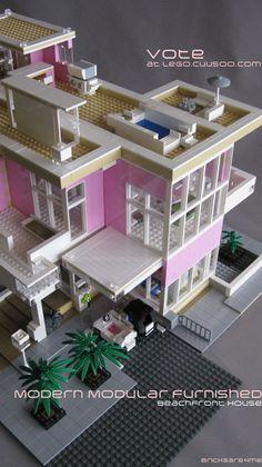 Updated Photo: Please vote for my #modern #modular #lego #house on #Lego #Cuusoo http://lego.cuusoo.com/ideas/view/37875 #modernmodularfurnishedbeachfronthouse #legocuusoo #bricksare4me