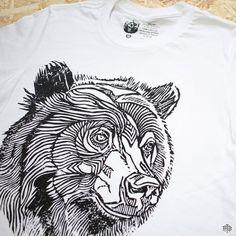 THE BEARHUG CO - Bear No.18 - White T-Shirt