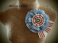 Fabric Flower Brooch by BlossomUnique, Etsy.
