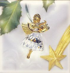 Swarovski-Crystal-Angel-Ornament-1998-Christmas-Memories-MIB-COA-New