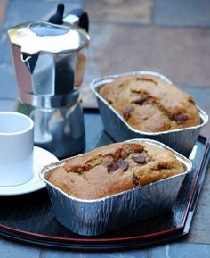 """coffe chocolate chip banana bread.  i will be making this recipe the next time i have over ripe bananas.  I might even """"accidentally"""" buy too many bananas the next time I'm at the store. :)"""