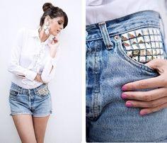 Levi's vintage personalizzati, handmade, made in Italy. Modelli disponibili su www.gisarlifestyle.com, richieste a gisarlifestyle@gmail.com! Ci trovate anche su Depop come 'gisar' e Instagram come 'gisar_lifestyle'. Tutte le immagini che trovate non sono prese dal web ma esclusivamente nostre creazioni! [In foto: Angelica Alberti e il suo blog www.angelichic.com] #gisar #gisarlifestyle #levis #lee #wrangler #vintage #jeans #ripped #boyfriend #baggy #over #highwaist #denim #shop #shoponline