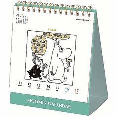 8月上旬入荷予定*【ムーミン】卓上週めくりカレンダー(ムーミン)BM120-09<予約商品>