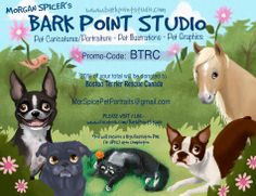Morgan Spicer is an illustrator and the Founder of Bark Point Studio. Boston Terrier Rescue, Fundraisers, Studio, Caricature, Your Pet, Canada, Running, Pets, Awesome
