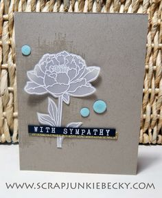 I love the softness of this image from You've Got This embossed with white on vellum. ~Becky Cowley