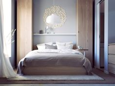 IKEA Bedroom Designs For You To Get Inspired From : A Japanese Inspired  Bedroom In Simple Modern Design A Light Wood Platform Bed Decorated With  Brown Bed ...