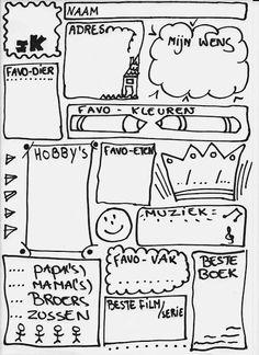 Joke Met Liefde: IK - bord - doodle