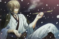 Chikage Kazama. -- Anime, Hakuouki, Shinsengumi Kitan, official art, otome game, character, handsome and attractive man, hot guy