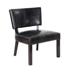 Crocodile Print Side Chair