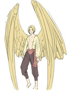Poland-Feliks A tad rounder wings than the usual middle European. Poland Hetalia, Character Art, Character Design, Wings Drawing, Bird People, Hetalia Characters, Ange Demon, Angels And Demons, Fantasy