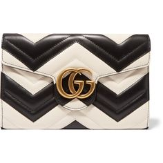 Gucci GG Marmont quilted leather shoulder bag ($1,290) ❤ liked on Polyvore featuring bags, handbags, shoulder bags, quilted handbags, heart shaped purse, cell phone purse, quilted chain shoulder bag and quilted leather handbags