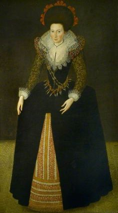 """Lady Croke, née Brigette Hawtrey, Last of the Hawtrey Family"", attr. Marus Gheeraerts the younger, ca. 1605; The Chequers Trust 63"
