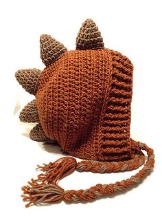 Great Free of Charge Crochet Hat dinosaur Tips Beanies are classified as the bane of our existence. Okay, that will be some sort of tiny bit severe Crochet Dinosaur Hat, Crochet Dinosaur Patterns, Dinosaur Blanket, Crochet Dragon, Crochet Patterns Amigurumi, Basic Crochet Stitches, Crochet Chart, Crochet Basics, Crochet Baby