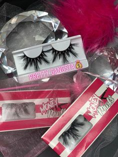 Pretty Gang$ter | Money Mink$ Co. Fake Eyelashes, False Lashes, Beauty Lash, Beauty Makeup, Skin Makeup, Business Baby, Business Ideas, Business Goals, Flawless Makeup