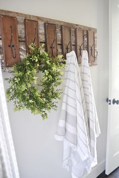 DIY bathroom hooks - liz marie blog