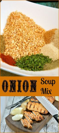 Onion Soup Mix Recipe- don't waste money on store bought packets, make onion soup mix in minutes at home with ingredients already in your pantry! Turn Onion Soup Mix into a dip, marinade, burgers, meatloaf or tasty roasted potatoes.