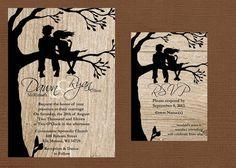 Rustic Wedding Invitation Best Friends by DawnMarieCreations82, $1.45