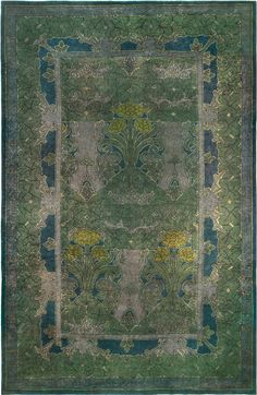 Antique Rug,Antique Carpets,Antique Persian Rugs,Tabriz Rugs,Custom Rugs - Voysey Rug ( size adjusted) BB5156 (SOLD)