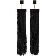 Tom Ford Fringed Earrings found on Polyvore featuring jewelry, earrings, black jewelry, tom ford, fringe jewelry, fringe earrings and earrings jewelry