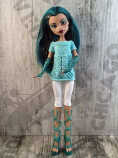Monster High doll clothes. Hand-knitted от OrdaliaHandwork на Etsy