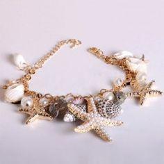 omg omg omg omg omg yesssssss $6.77 Fresh Sea Star Multi-Element Pendant Bracelet For Women