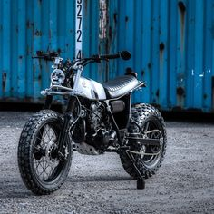 Dimitri Chaussinand's super-cool Yamaha TW125, complete with DTMX tank and extended swingarm.